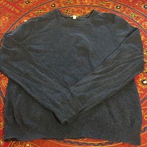 Gap Cotton Cashmere S Sweater Blue